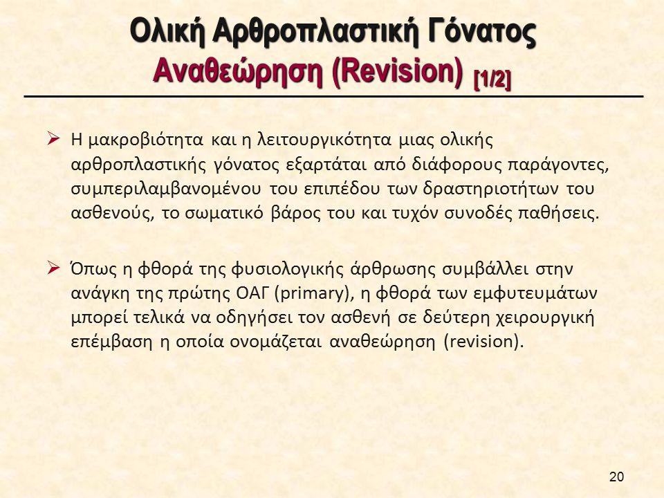 Ολική Αρθροπλαστική Γόνατος Αναθεώρηση (Revision) [2/2]